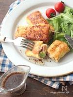 アボカドとハムチーズのロールフレンチトースト