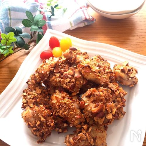 カリッカリ絶品‼️超オススメ♡鶏もも肉の香ばしアーモンド焼き