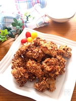 絶品‼️オーブン任せで簡単♡鶏もも肉の香ばしアーモンド焼き