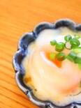 温泉卵を電子レンジで1分で簡単に作るレシピ