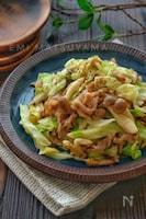 *豚肉とキャベツのめんつゆガーリックマヨ炒め*