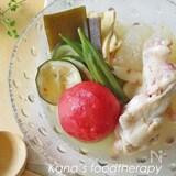夏バテにも。鶏肉と夏野菜の冷やしおでん