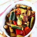 ウインナーと夏野菜のカレー炒め《香ばしい!にんにく醤油》