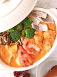 濃厚スープで野菜が美味しい♪海老のビスク鍋