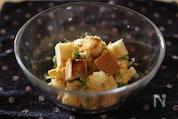 豆苗とカリカリトーストの卵サラダ