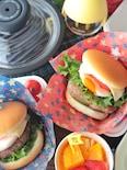 【15分弁当】パックのままレンジで簡単*ハンバーガー弁当