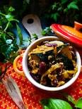 鶏ムネ肉とカボチャの和カレーのタジン風煮込み