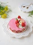 混ぜるだけ簡単!苺チョコムースのチーズケーキ