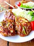 大盛りごはんと♡やわらか豚ヒレ肉のごまニンニク味噌