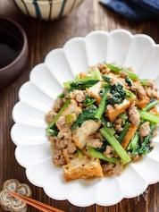 厚揚げと小松菜のごま味噌マーボー【#作り置き #お子様OK】