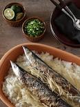 新生姜の香りがさわやかな味わい!基本の秋刀魚ごはん