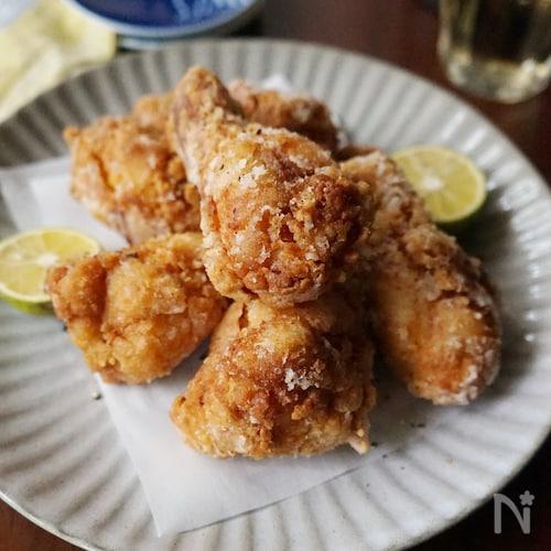 鶏手羽元のニンニク醤油から揚げ