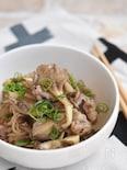 牛肉と舞茸の甘辛生姜炒め
