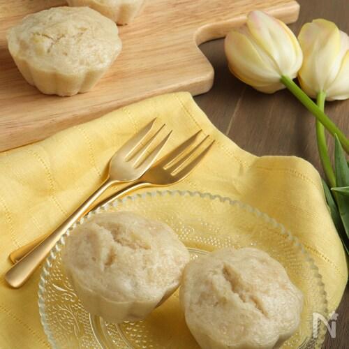 小麦・バター不使用。米粉のモチモチバナナヨーグルト蒸しパン