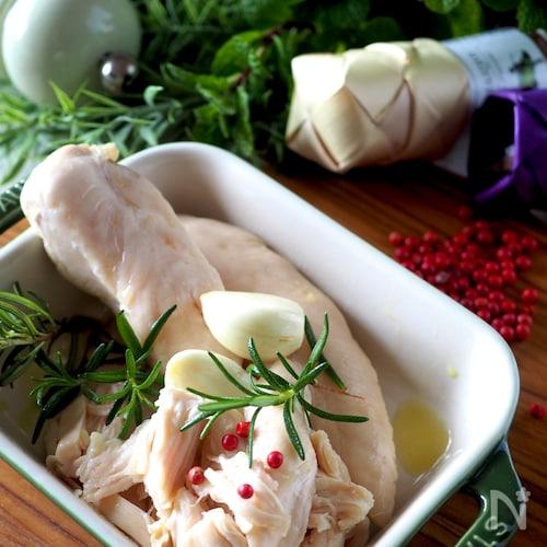 普通のお鍋で低温調理【しっとり鶏ささみのオイル蒸し】