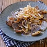 レンジで簡単ひとりご飯*白身魚とあさりの中華蒸し*