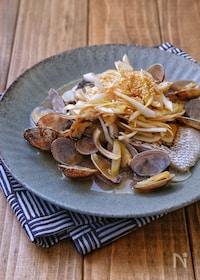 『レンジで簡単ひとりご飯*白身魚とあさりの中華蒸し*』