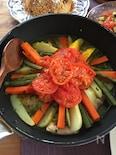 フライパンで!鶏肉と野菜のタジン風蒸し煮