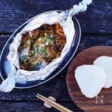 鯖缶の韓国風ホイル蒸し
