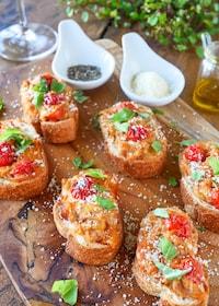 『フランスパンのピザ風トースト』