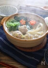 『【ごちそううどん】スープが決め手!塩ちゃんこ風煮込みうどん♪』