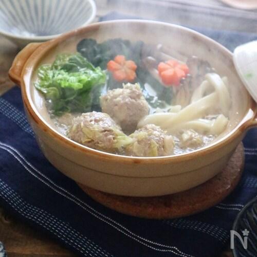 【ごちそううどん】スープが決め手!塩ちゃんこ風煮込みうどん♪