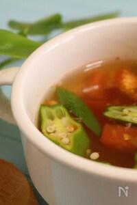 トマトとオクラの韓国風スープ