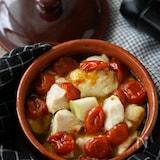 パスタやパンに♪鶏むね肉とセミドライトマトのアヒージョ
