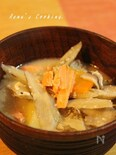 焼き鮭と根菜の酒粕汁