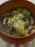 レタスとマッシュルームの塩麹スープ