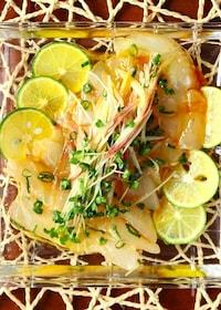 『簡単なのに美味しい〜!鯛の和風カルパッチョ』