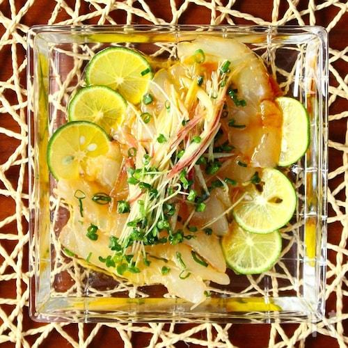 簡単なのに美味しい〜!鯛の和風カルパッチョ