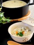 牡蠣と里芋の和風チャウダー白味噌味