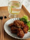 納豆とれんこんの揚げ団子
