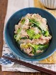 ご飯もお酒もモリモリすすむ♪『豚バラと白菜の塩バター蒸し』