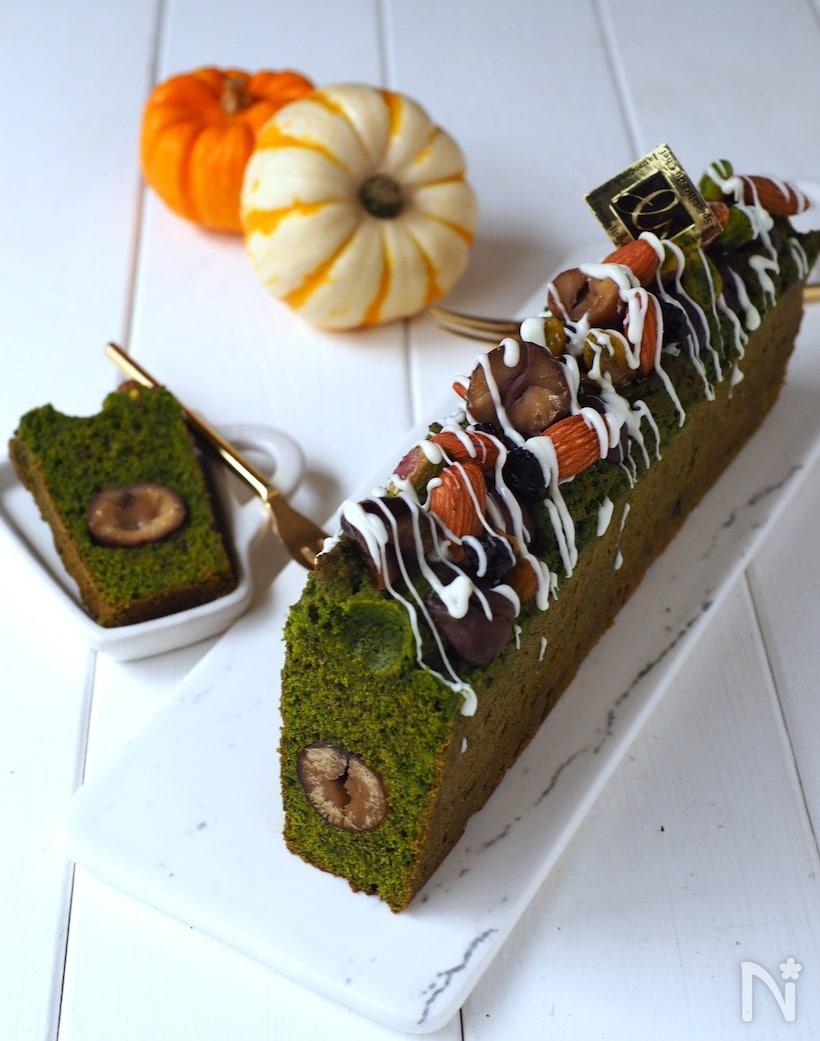 【基本】抹茶パウンドケーキのレシピ!マーブル柄に仕上げるコツもの画像