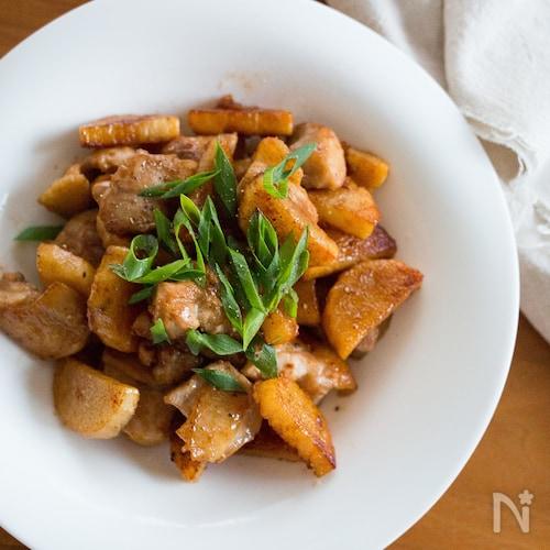 鶏肉と長芋のバター醤油炒め《簡単・お弁当》
