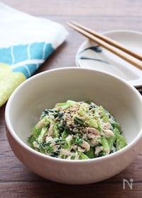 『【子どもに人気!】小松菜とツナのごまマヨサラダ』