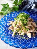 【レンジ蒸し鶏】鶏ささみとザーサイの中華風#作り置き#簡単
