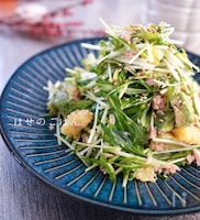 1皿で大満足♪『ツナと水菜のボリュームサラダ♡♡』