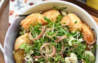 【ササミんレシピ】茄子とササミの薬味たっぷり梅てりやき丼♪