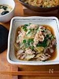 具だくさん!『白菜とにらと豚バラの中華風春雨煮』#お手軽