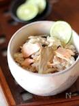 秋鮭ときのこの炊き込みご飯