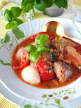 【レンジのみ】無水で濃厚!鯖缶とチーズのトマトシチュー
