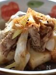 豚肉と厚揚げ、長ネギの炒め物
