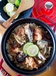 【缶詰さんまで絶品ご飯】秋刀魚ときのこと明太子の炊き込みご飯