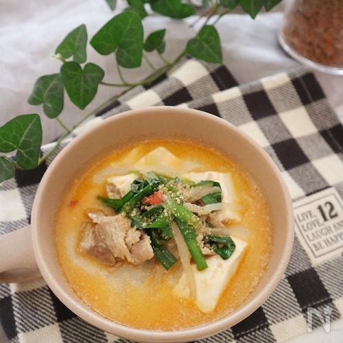 豆乳ごま坦々スープ