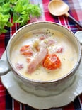 めちゃうま♡『トマトとベーコンのクリーミースープ』