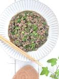 茄子と肉味噌の甘辛炒め🍆