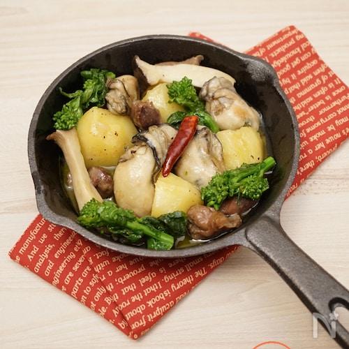 牡蠣と砂肝のオイル煮